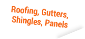 roofing,gutters,shingles,panels